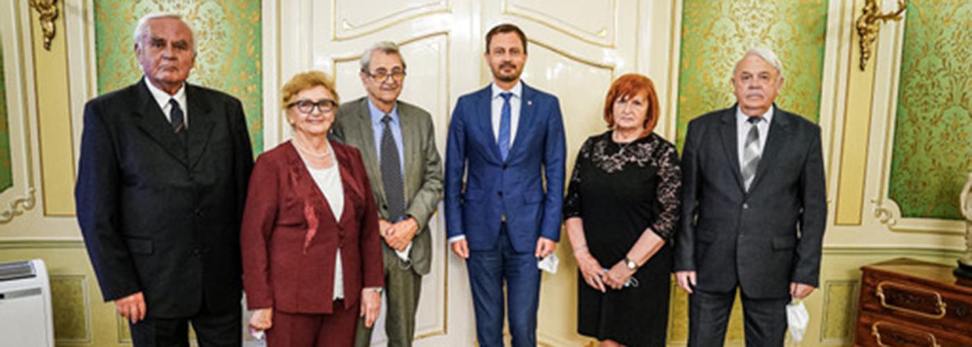 Delegácia Predsedníctva JDS upredsedu Vlády SR Eduarda Hegera